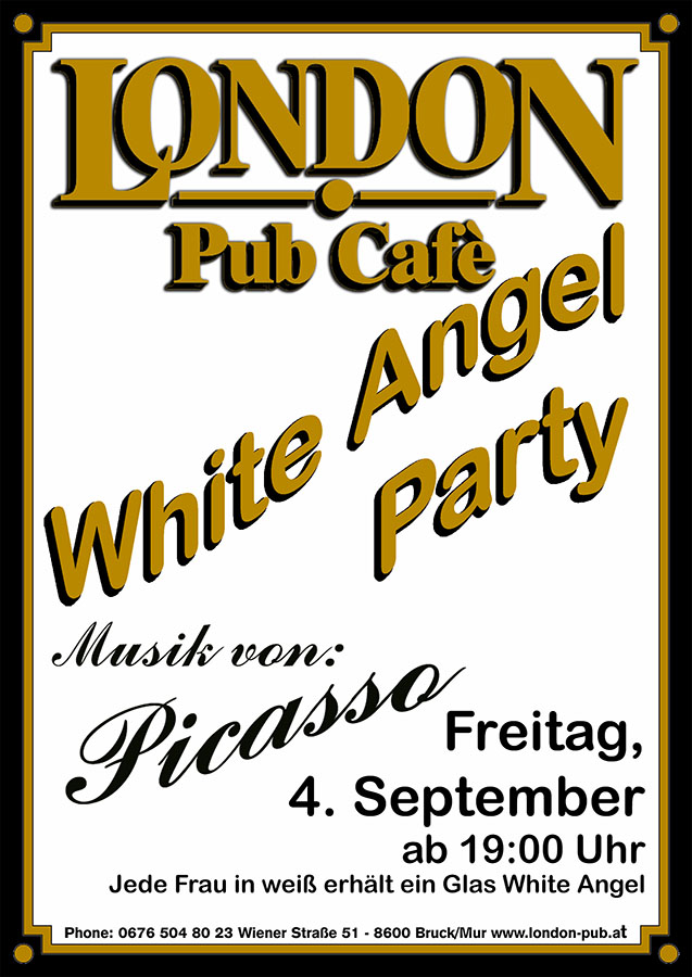 White Angel Party Plakat