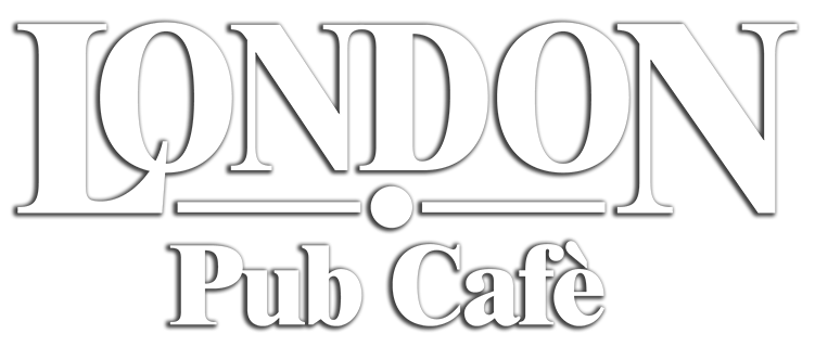 Pub-Cafe London Logo weiß